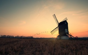 Man Made - Windmill Wallpapers and Backgrounds ID : 252774
