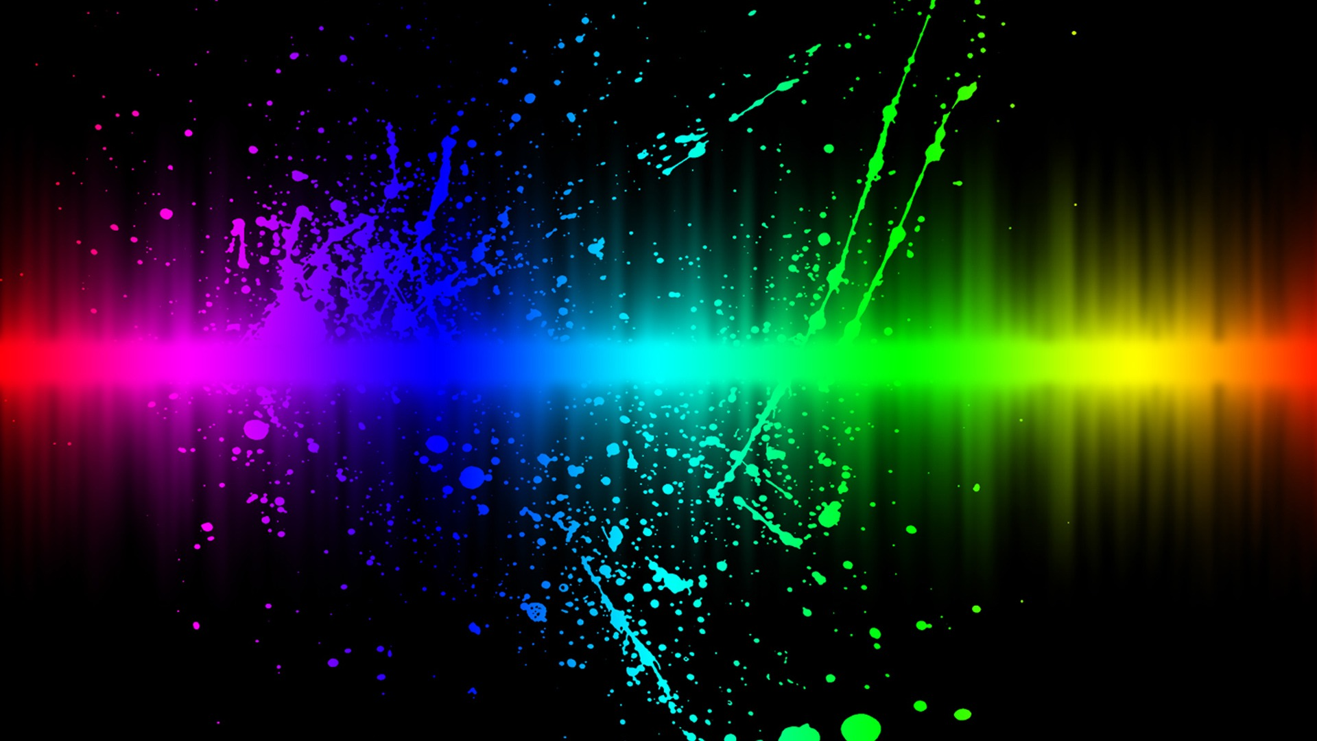 Full Color Music Background: Colors Explosion HD Wallpaper