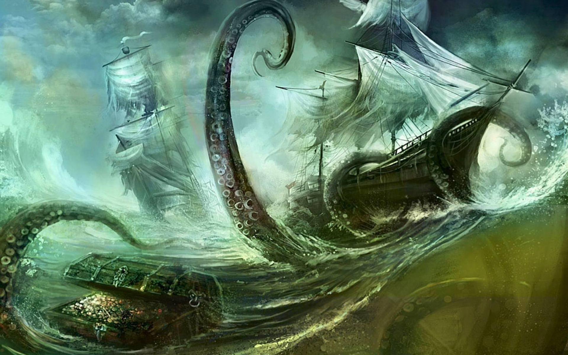 download next wallpaper prev wallpaperGiant Sea Monster Wallpaper