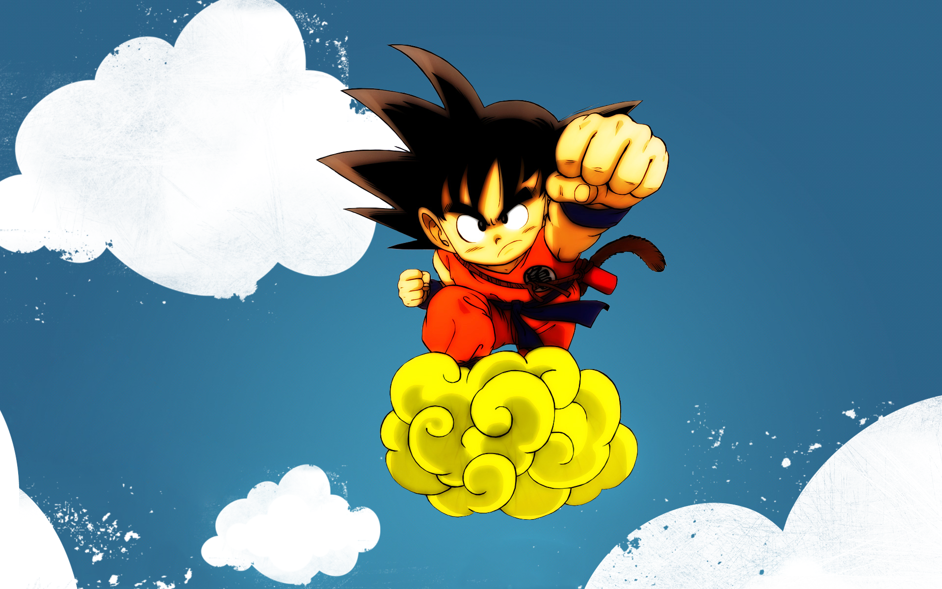 Goku And His Nimbus Cloud Hd Wallpaper Background Image