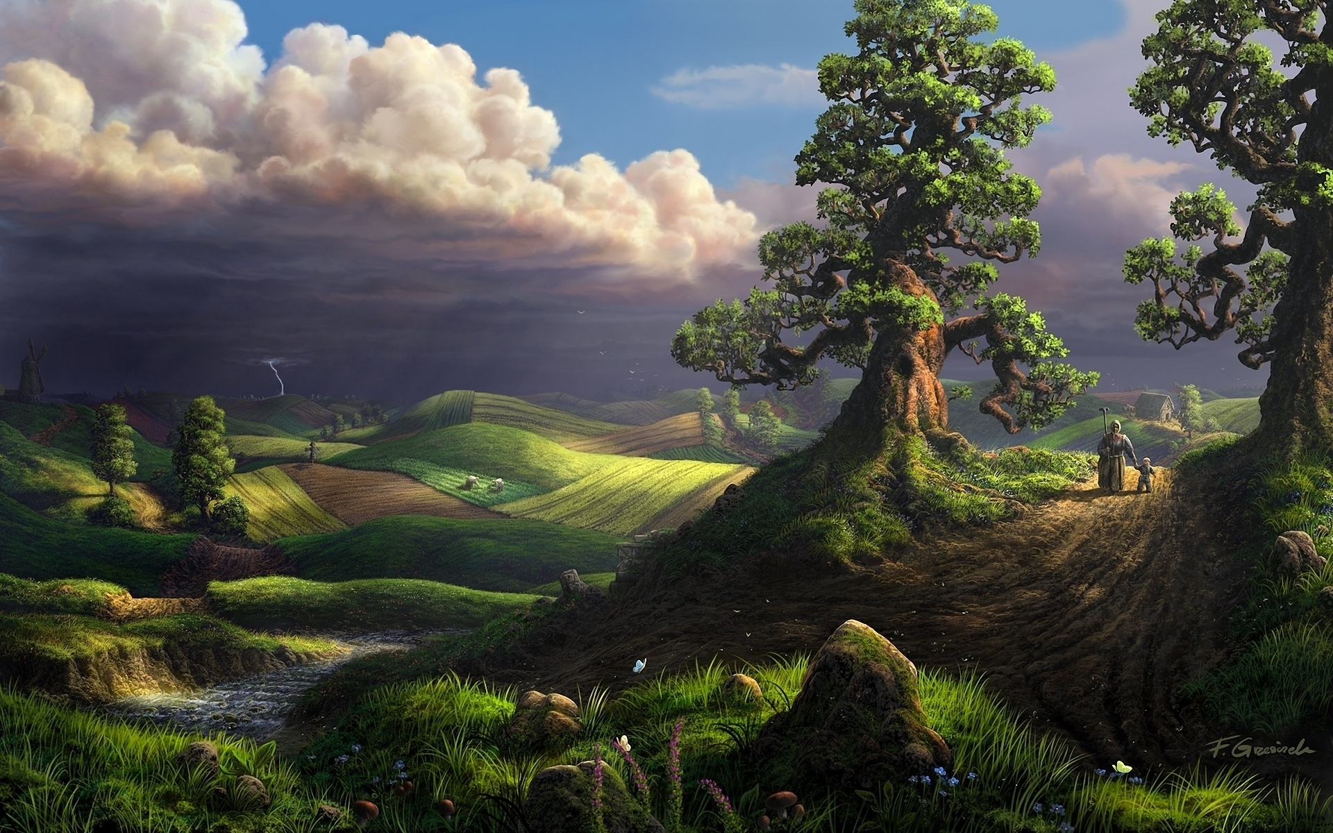 digital paintings scenery - photo #29