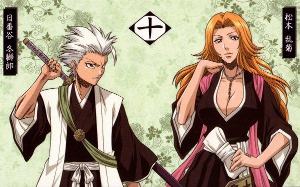 Anime Bleach Tōshirō Hitsugaya Rangiku Matsumoto HD Wallpaper   Background Image
