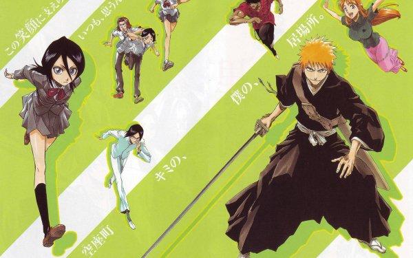 Anime Bleach Ichigo Kurosaki Orihime Inoue Yasutora Sado Tatsuki Arisawa Uryu Ishida Rukia Kuchiki HD Wallpaper | Background Image
