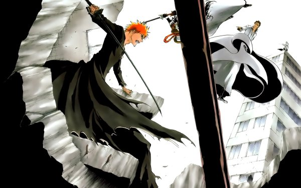 Anime Bleach Bankai Ichigo Kurosaki Kaname Tosen Sōsuke Aizen Gin Ichimaru HD Wallpaper | Background Image