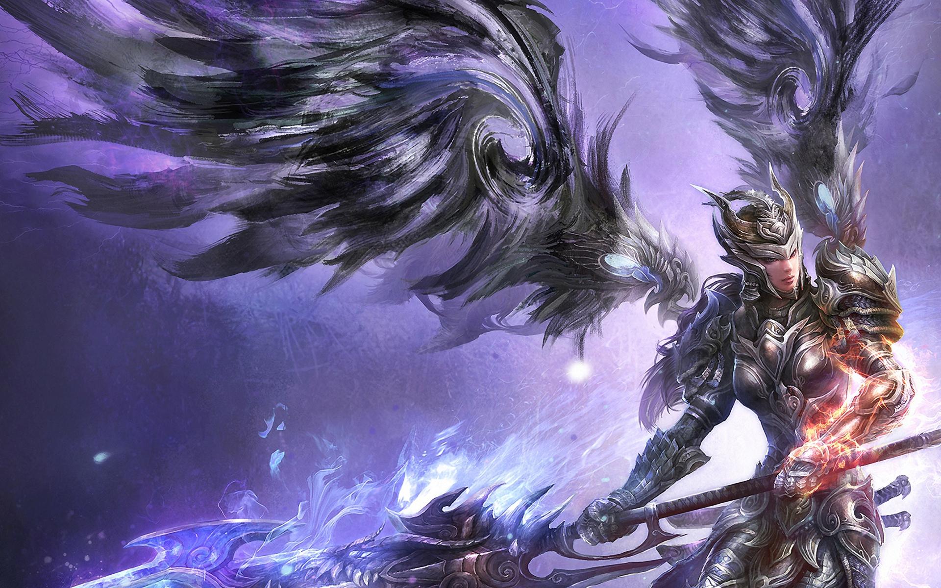 Warrior Fantasy Art Armor Angel Magic Wallpapers Hd: Angel Warrior HD Wallpaper
