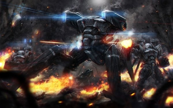 Sci Fi Battle HD Wallpaper | Background Image