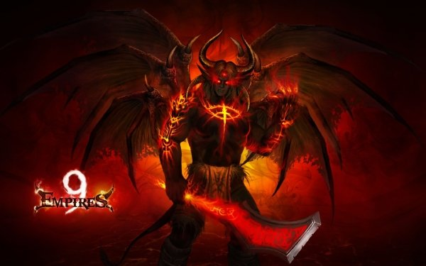 Video Game 9 Empires Wings Creature Game Empires Demon Red HD Wallpaper | Background Image