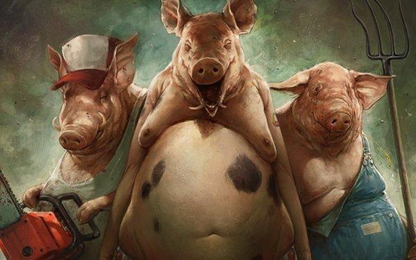 Fantasy Humor Pig HD Wallpaper | Background Image