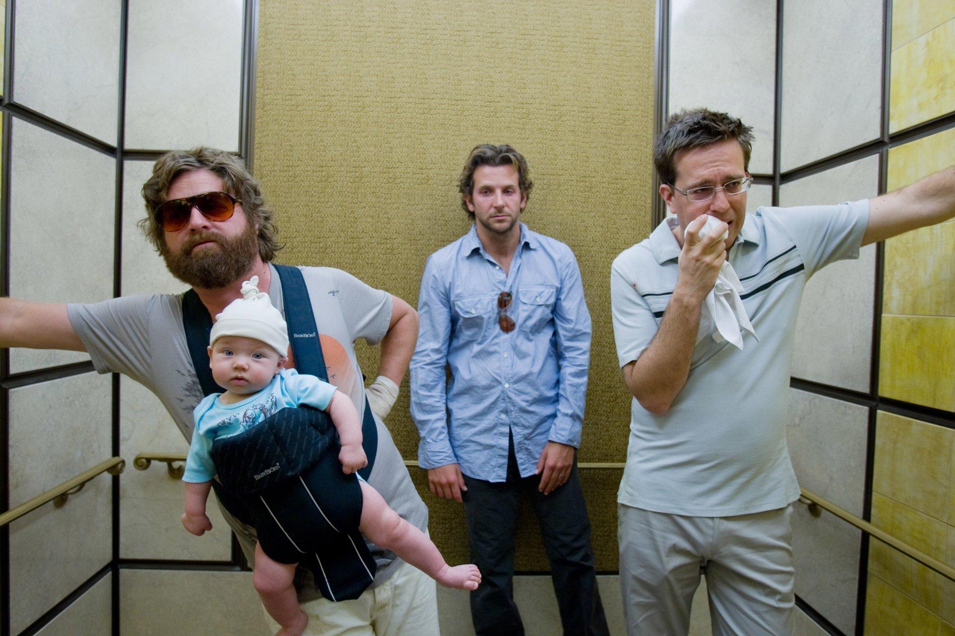 Movie - The Hangover  Bradley Cooper Ed Helms Zach Galifianakis Wallpaper