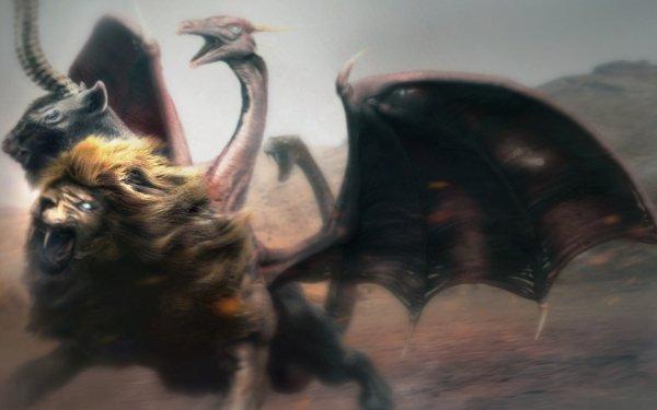Fantaisie Chimera Animaux Fantastique Fond d'écran HD   Arrière-Plan