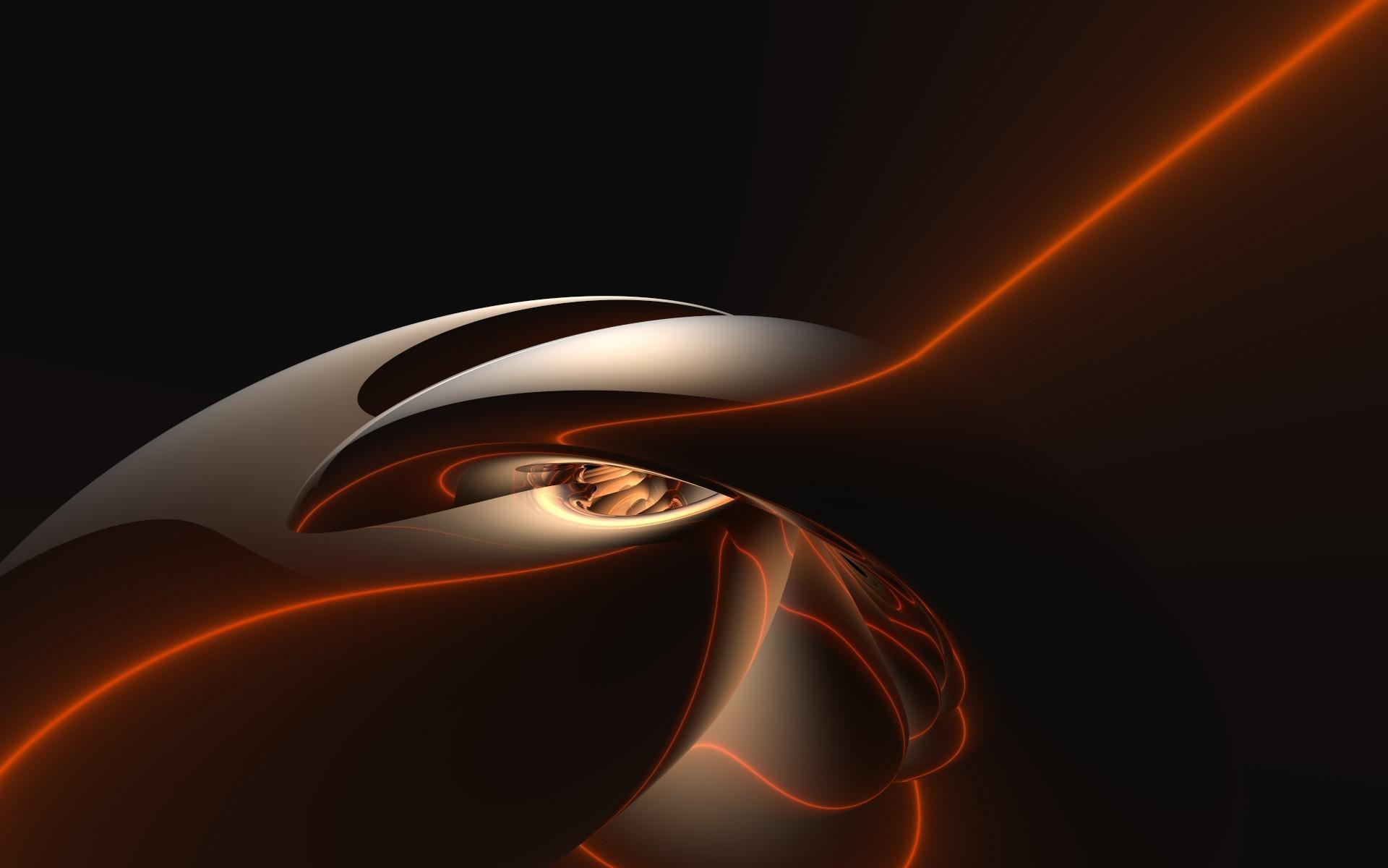 desktop background orange abstract - photo #26