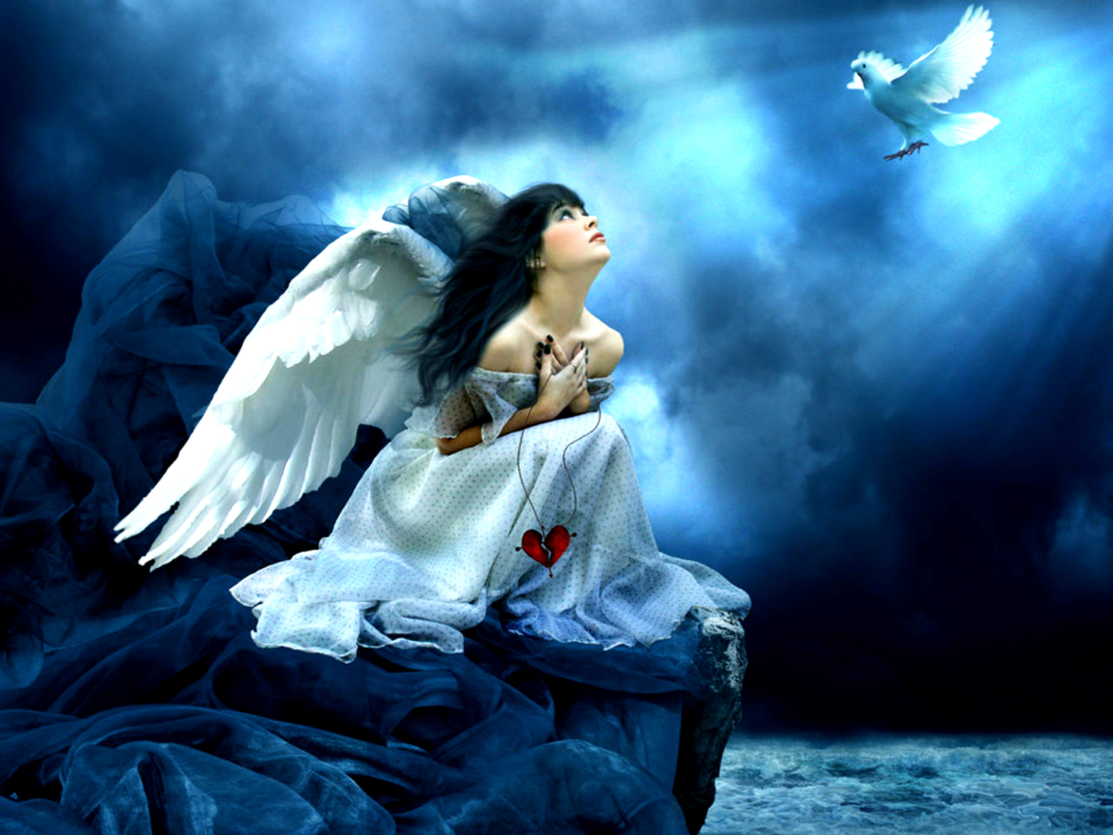 Beautiful Gothic Wallpapers: Angel Wallpaper And Background Image