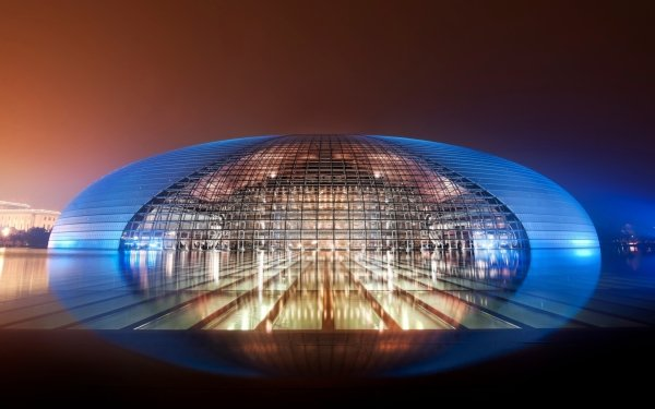 Man Made Beijing National Grand Theatre Buildings Building Architecture Theatre China HD Wallpaper | Background Image