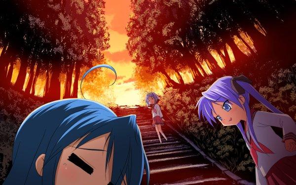 Anime Lucky Star Kagami Hiiragi Tsukasa Hiiragi Konata Izumi HD Wallpaper | Background Image