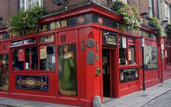 Man Made Building Buildings Dublin Ireland Pub Temple Bar HD Wallpaper | Background Image