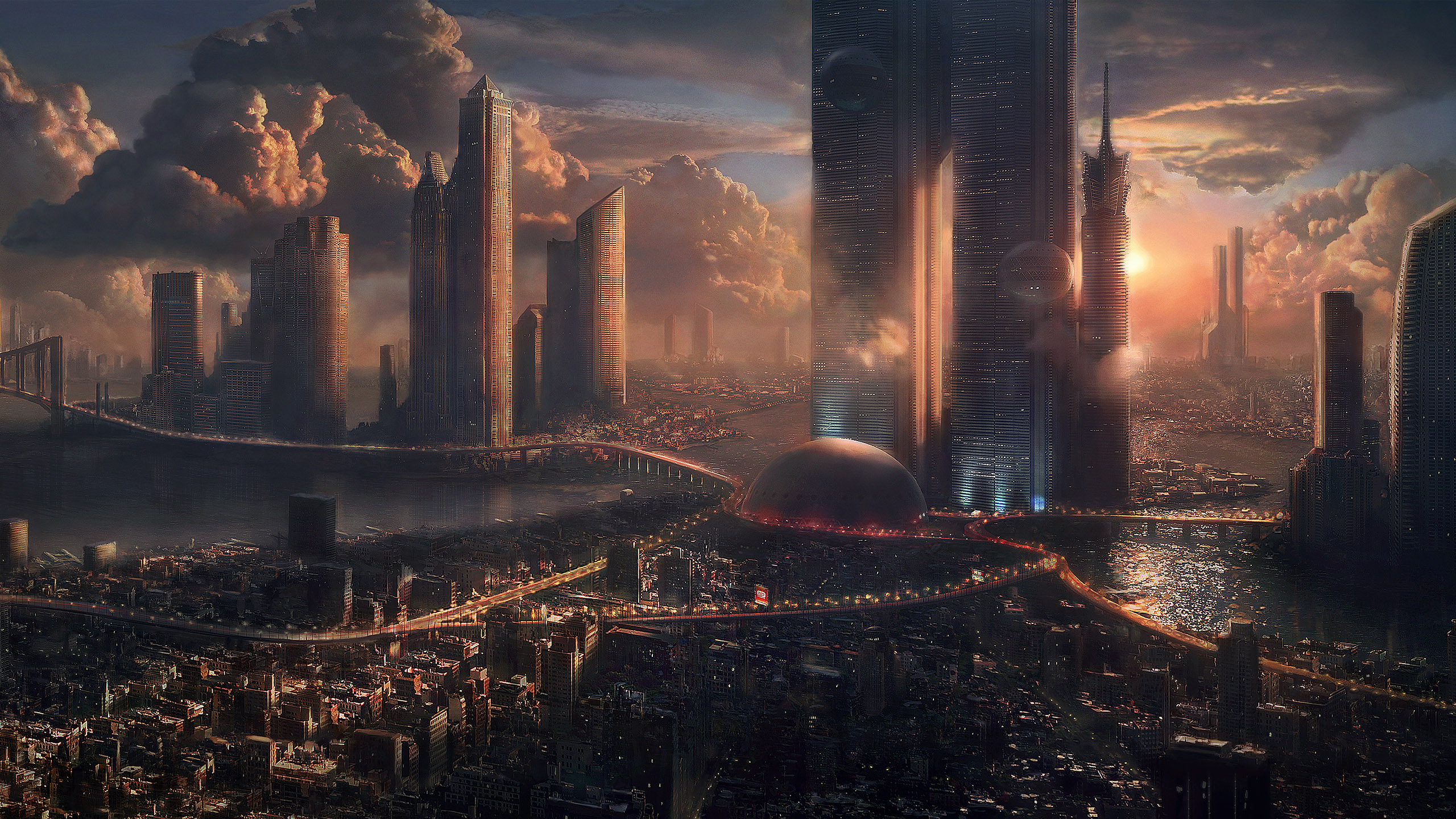World Wallpaper Sci Fi Wallpaper: City HD Wallpaper