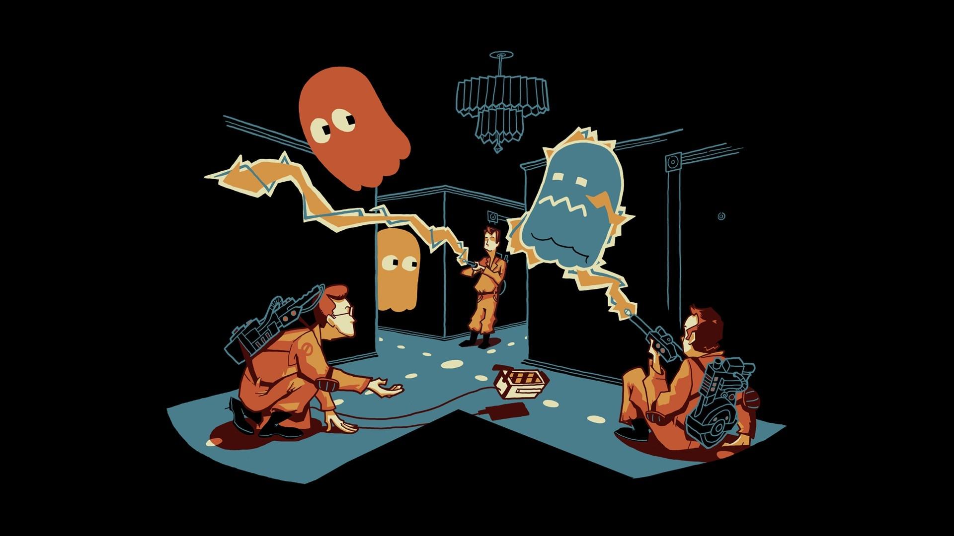 ghostbusters pacman hd wallpaper