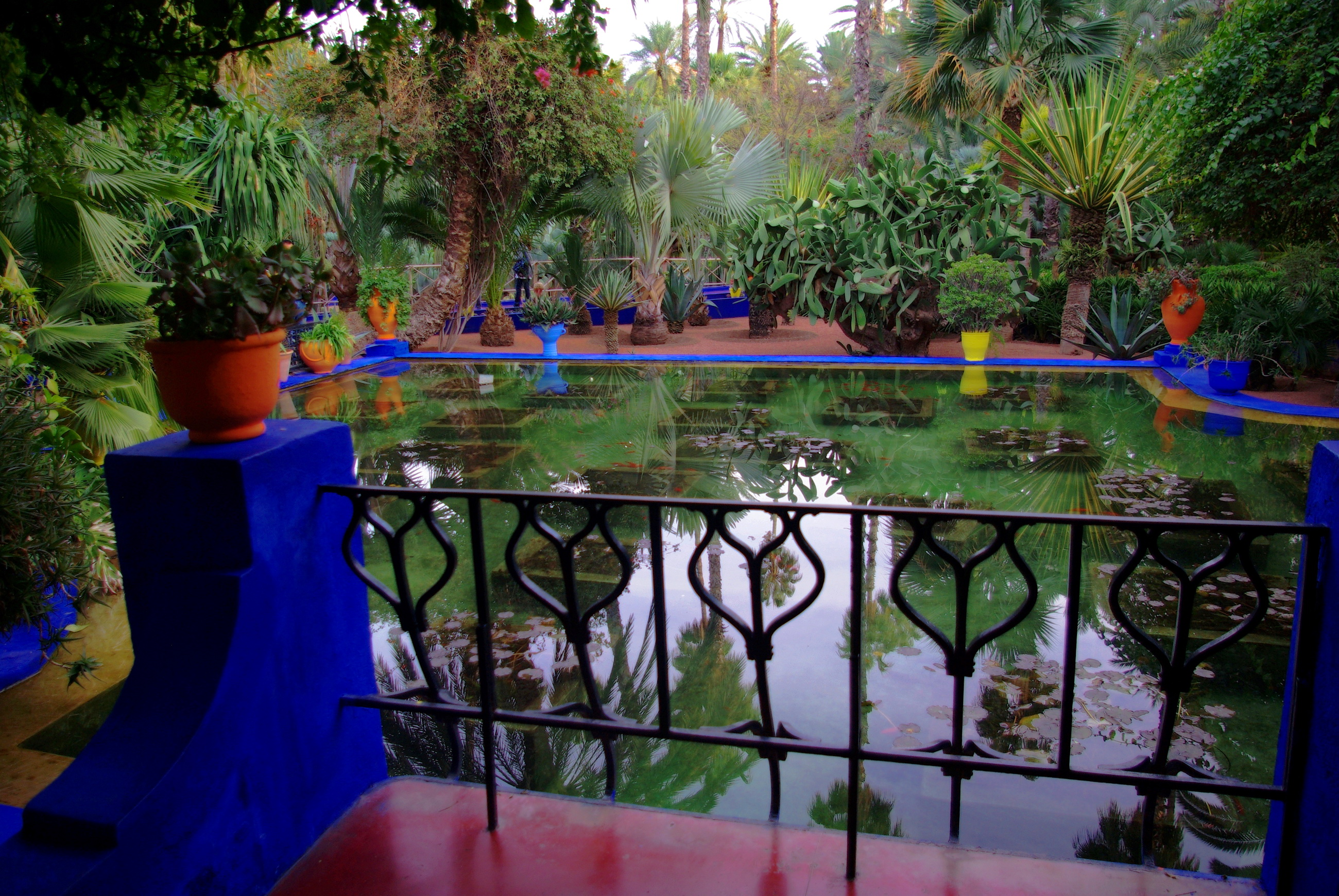 Morocco marrakech jardin majorelle full hd wallpaper and for Jardin hispano mauresque