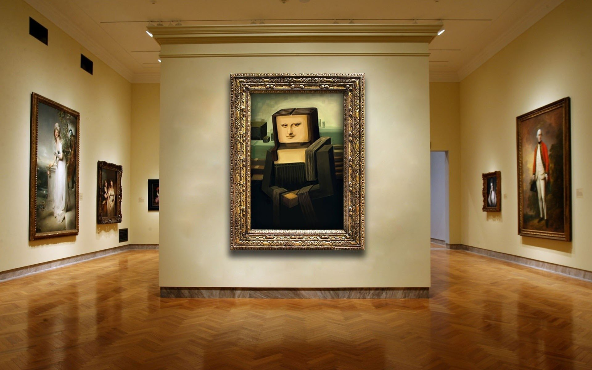 Computerspiele - Minecraft  Mona Lisa Mojang Wallpaper