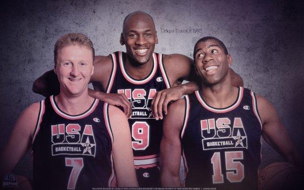 Sports Olympic Games Basketball Olympics Larry Bird Michael Jordan Magic Johnson HD Wallpaper   Background Image