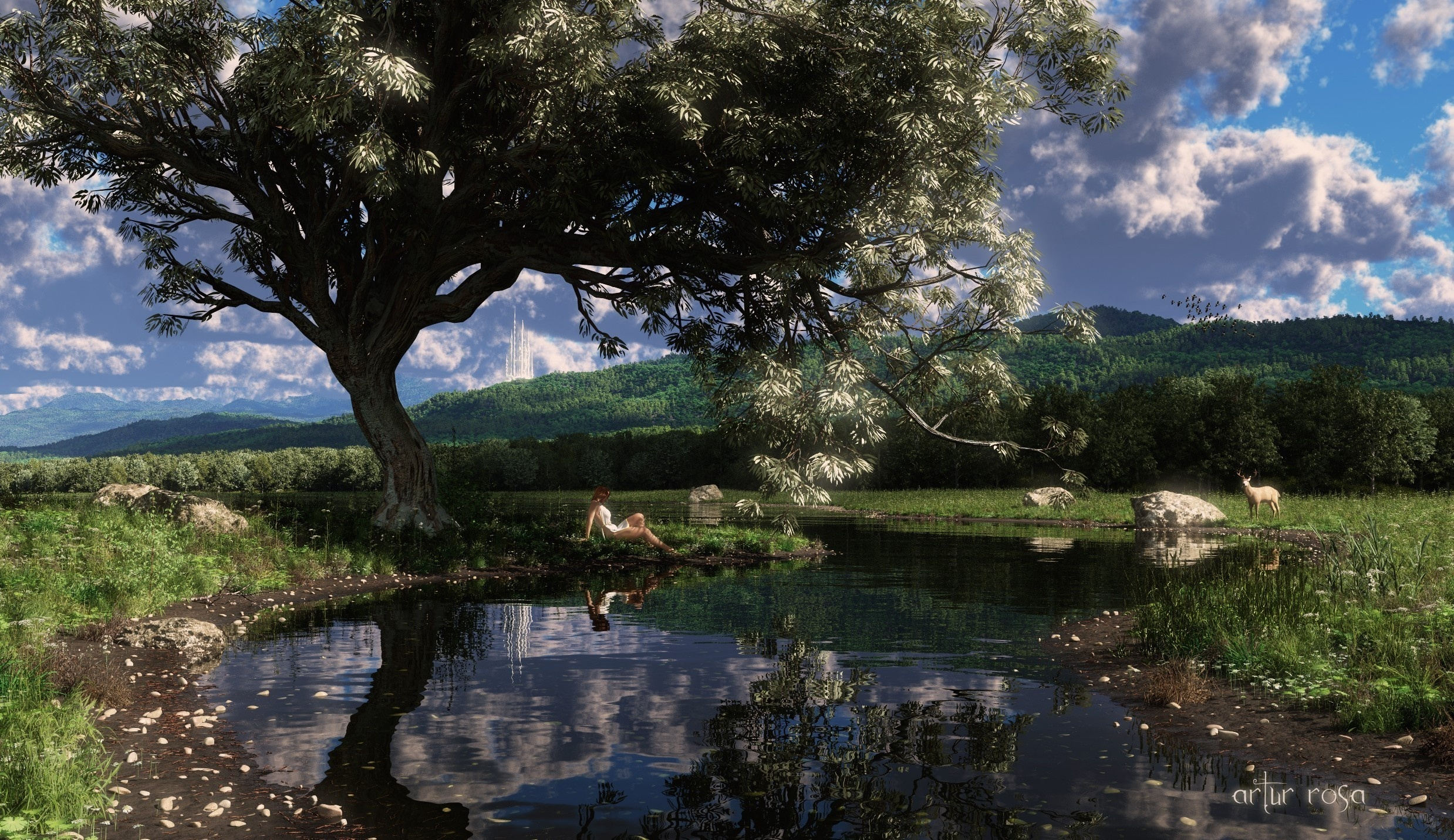 Fantasy - Landscape  CGI Digital Art Wallpaper