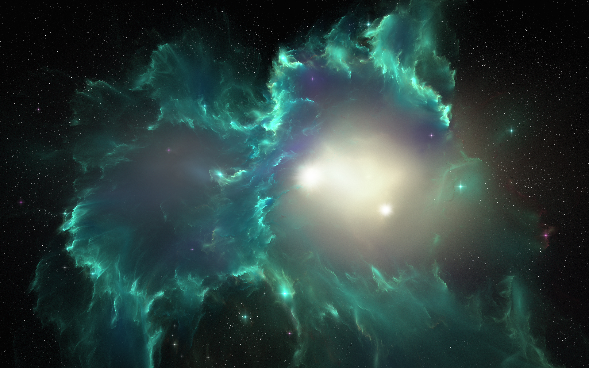 teal space nebula - photo #20