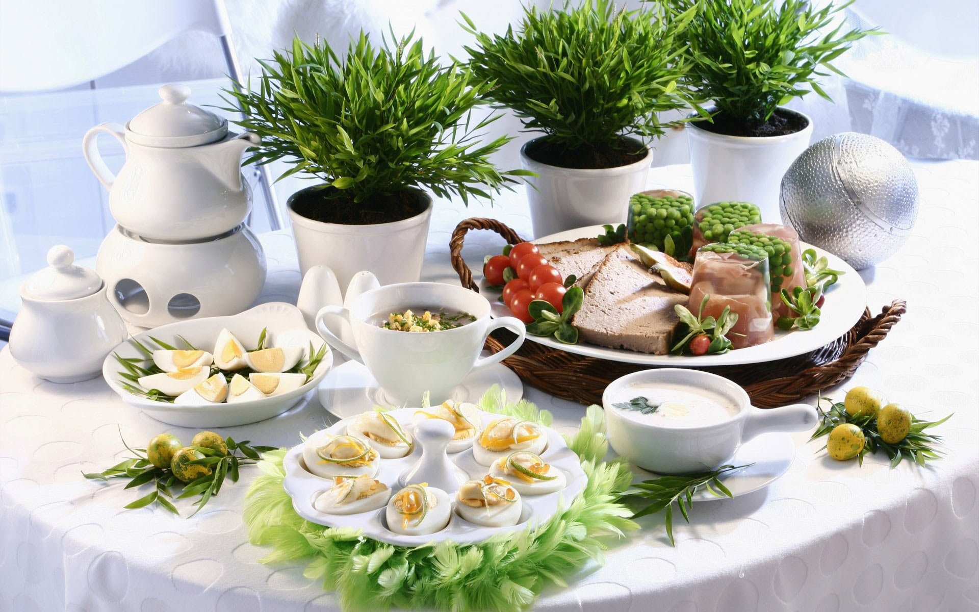 Food - Meal  Egg Lunch Food Pot Plant Wallpaper