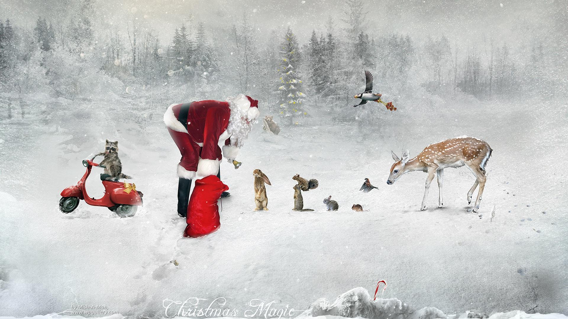 Christmas Magic Hd Wallpapers: Christmas Magic HD Wallpaper