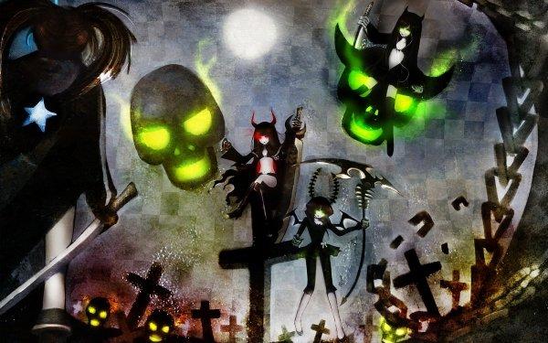 Anime Black Rock Shooter Dead Master Black Gold Saw HD Wallpaper | Background Image