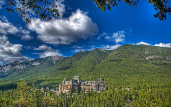 Man Made Building Buildings Banff Hotel Canadian Rockies HD Wallpaper | Background Image