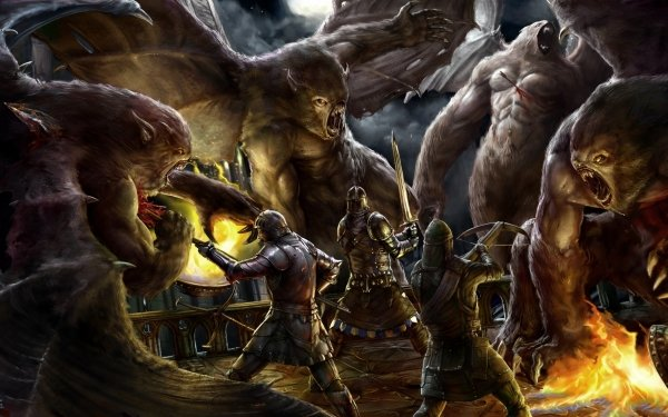 Fantasy Battle Knight Warrior Creature Weapon Sword HD Wallpaper | Background Image