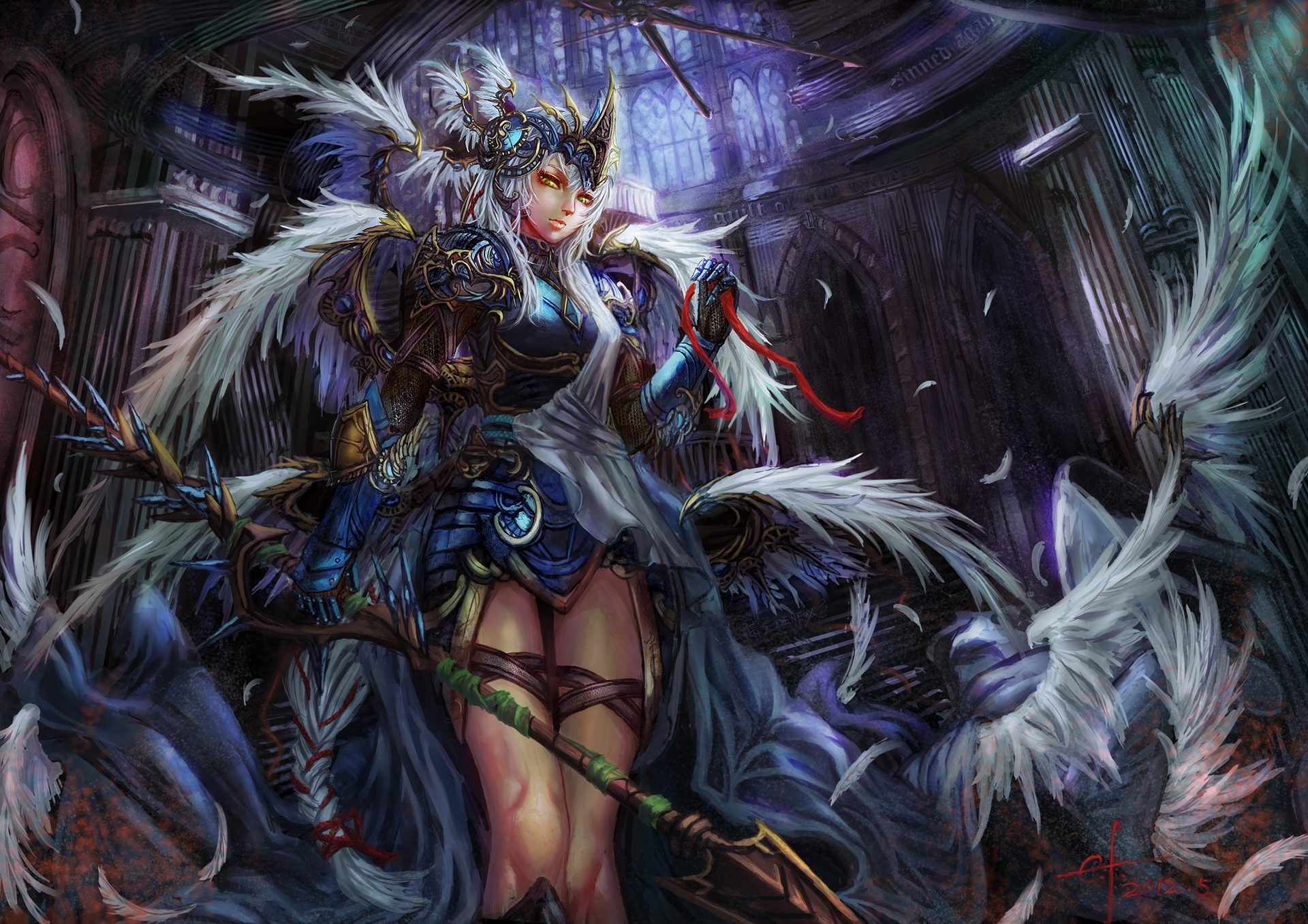 Anime Inspired Hd Fantasy Wallpapers For Your Collection: Women Warrior HD Wallpaper