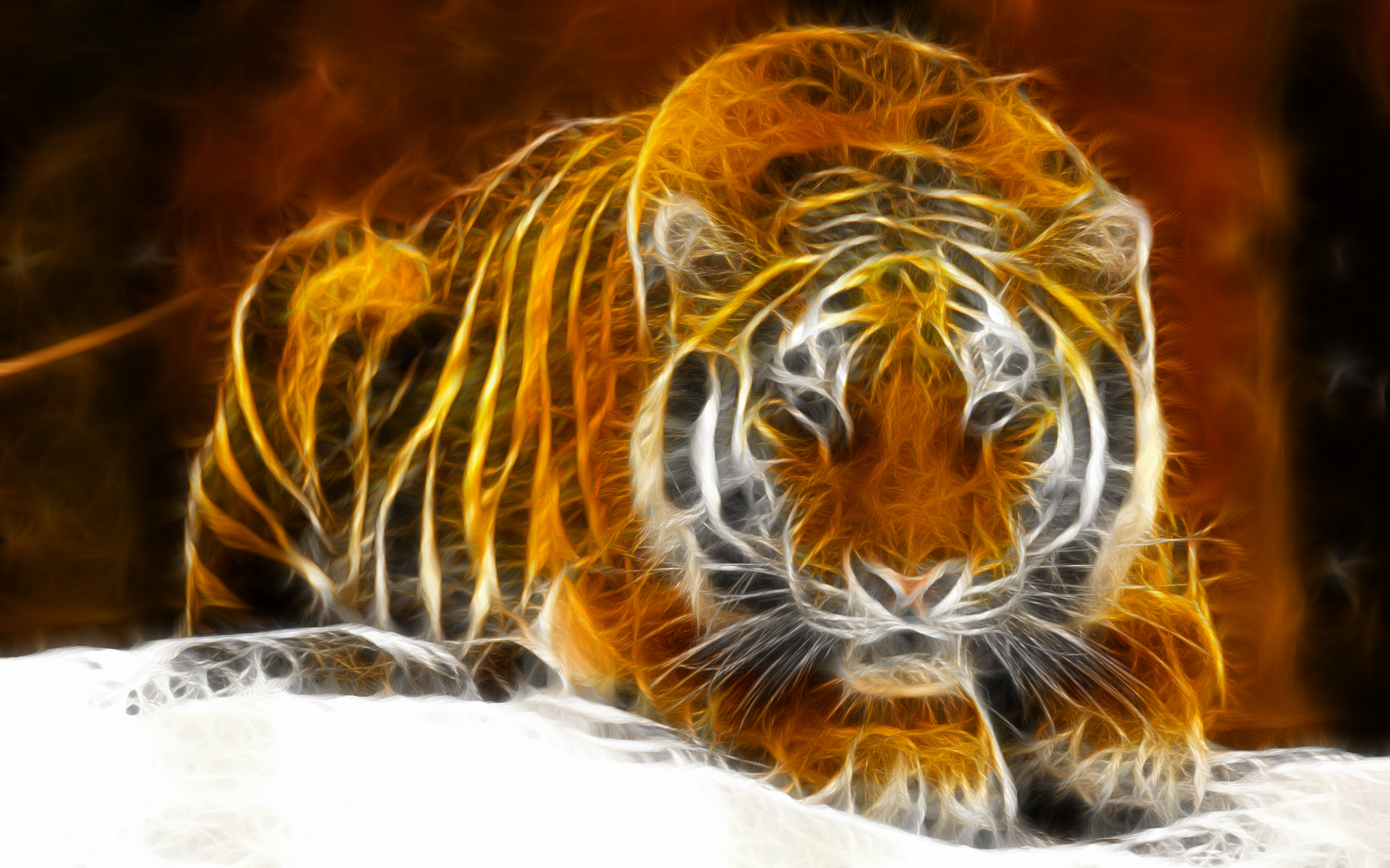 Windows 7 digital tiger full hd wallpaper and background image animal artistic tiger cat orange animal digital art windows wallpaper altavistaventures
