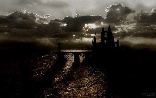 Oscuro Landscape Castillo Fondo de pantalla HD | Fondo de Escritorio