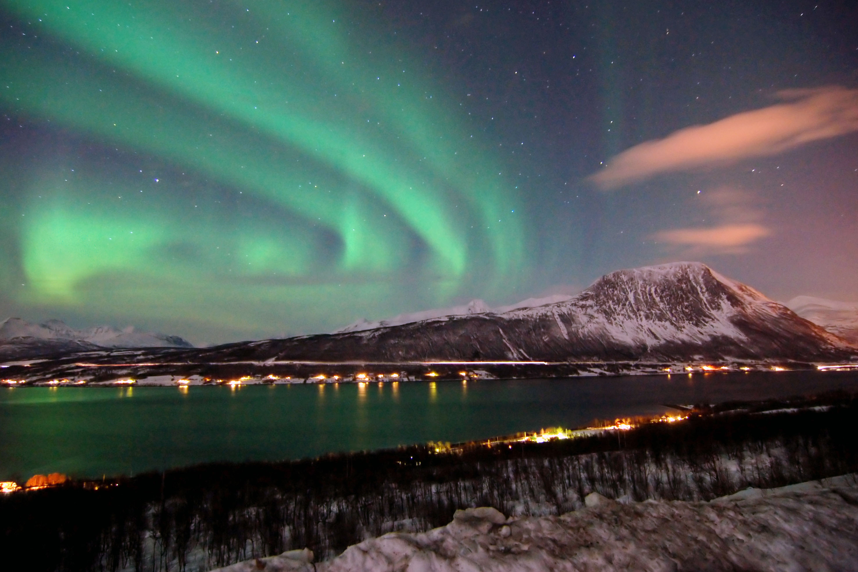 norway aurora full hd wallpaper and background 2952x1968