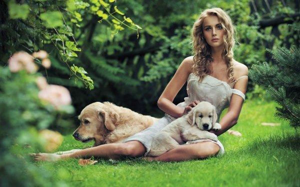 Women Model Models Dog Puppy Mood Fashion HD Wallpaper | Background Image
