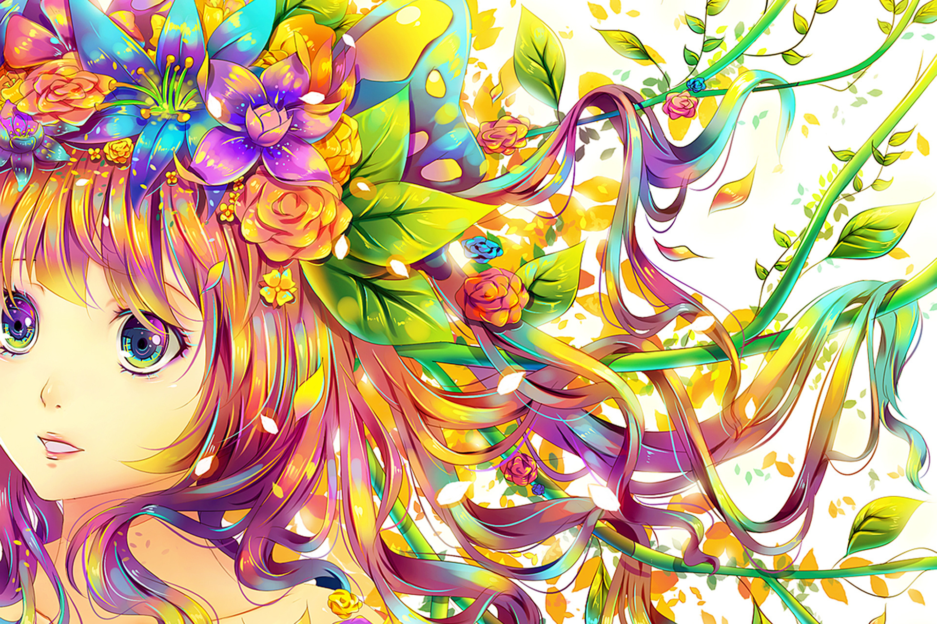 Paint Rainbow Girl Wallpapers: Http://hitsukuya.deviantart.com/#/d54qspm Full HD