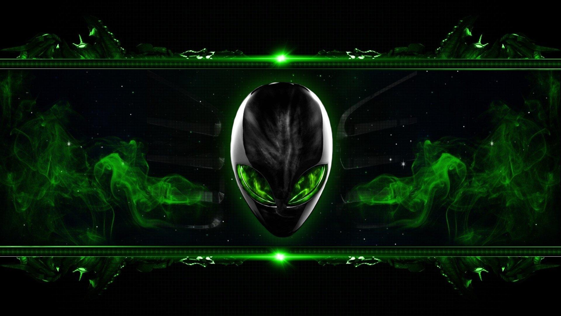 技术 - 外星人  技术 绿色 壁纸