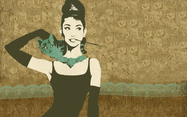 Celebrity Audrey Hepburn Actresses United Kingdom Vector Style Fashion Actress HD Wallpaper | Background Image