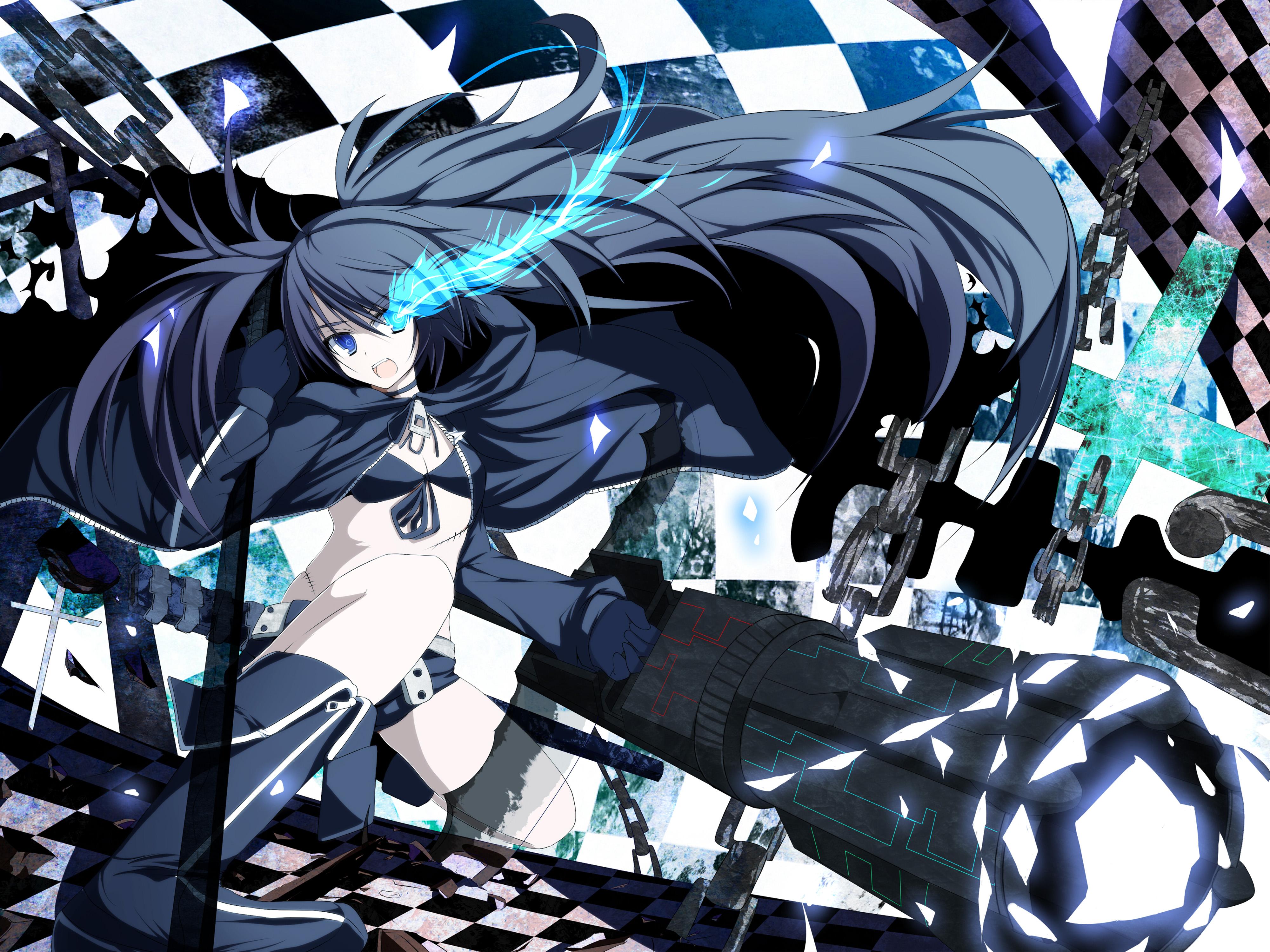 anime shooter rock gun chain insane weapons mato 4k hair hd eyes weapon wallpapers background kuro asterisk macam preview desktop
