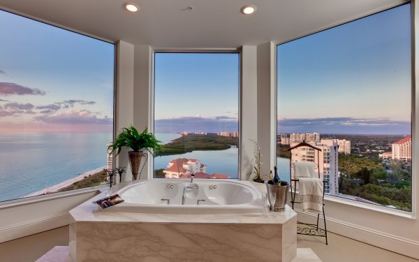 Man Made Room Interior Bathroom HD Wallpaper | Background Image