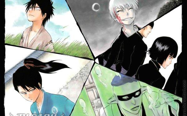 Anime Bleach Gin Ichimaru Soifon Byakuya Kuchiki Mayuri Kurotsuchi HD Wallpaper | Background Image