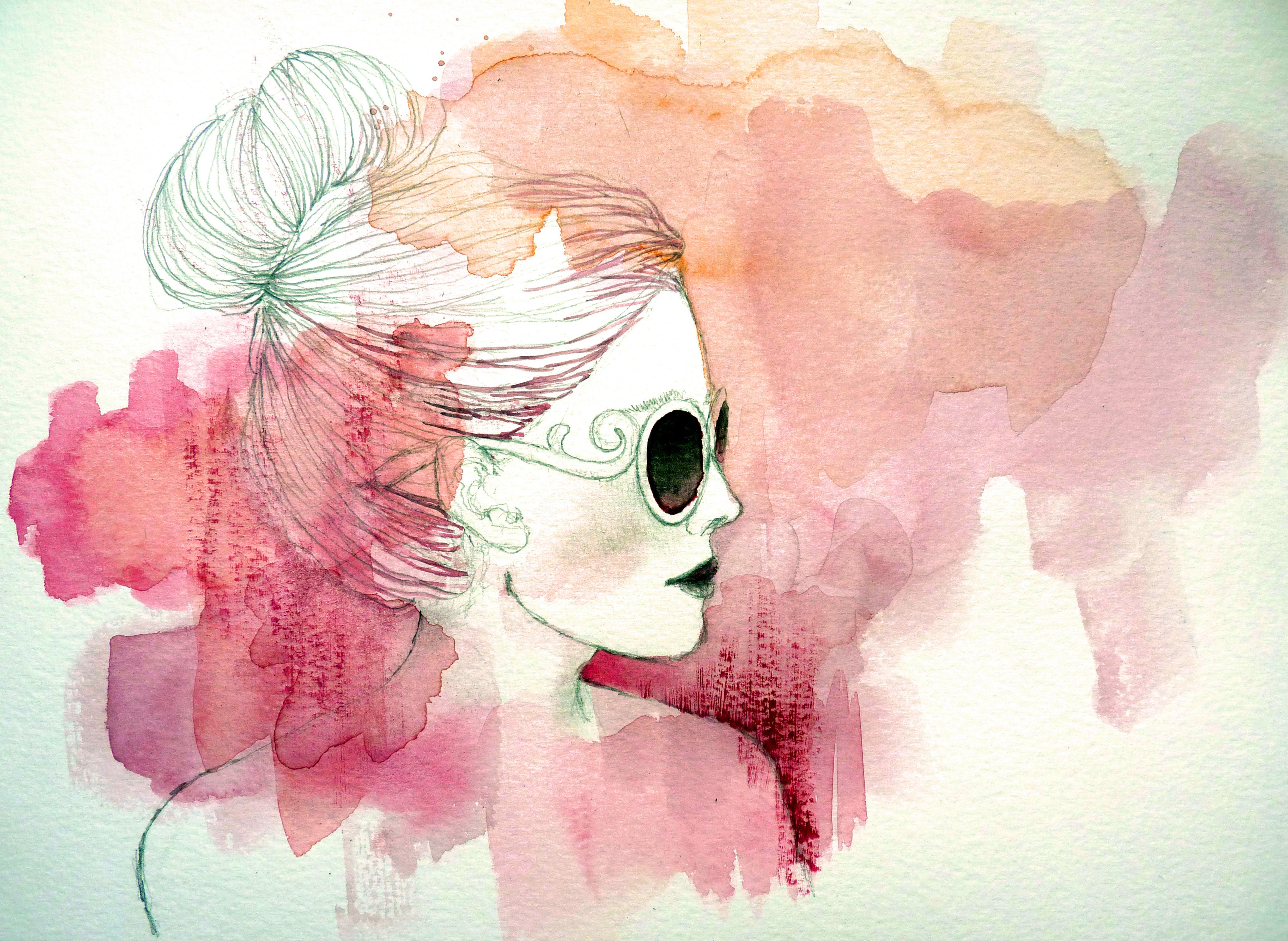 Девушка с сигаретой рисунки