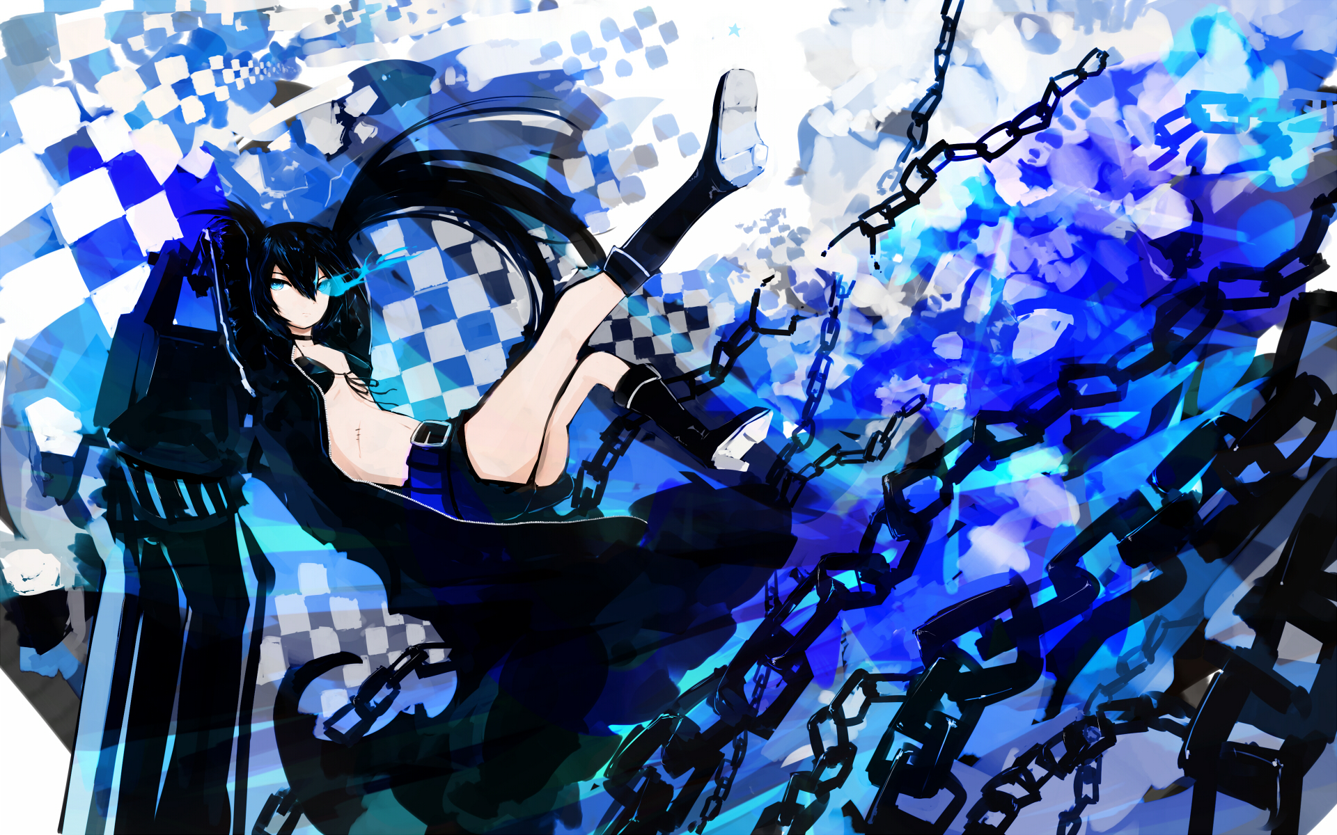 Black Rock Shooter Hd Wallpaper Background Image