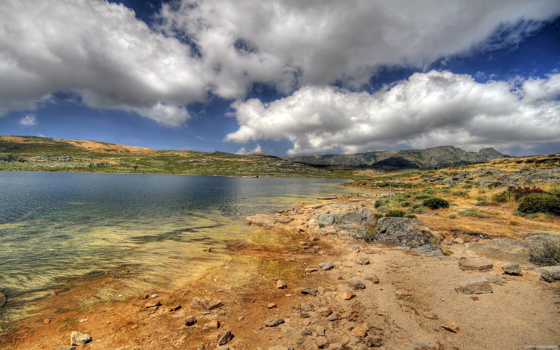 Earth - Desert  Horizon Cloud Sky Mountain Barren Lake Landscape Photography Wallpaper