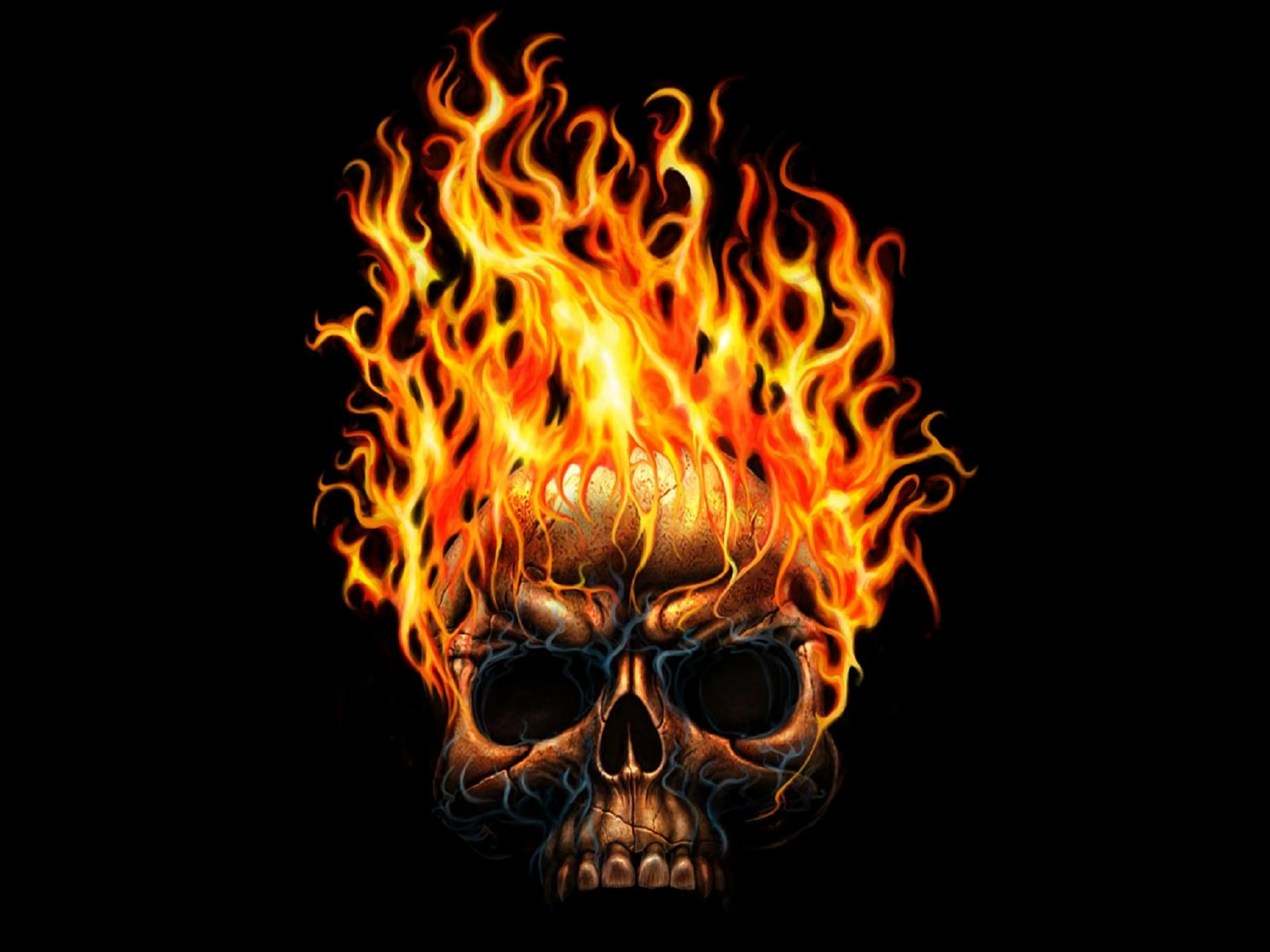 Hd wallpaper background image id38806 3200x2400 dark skull
