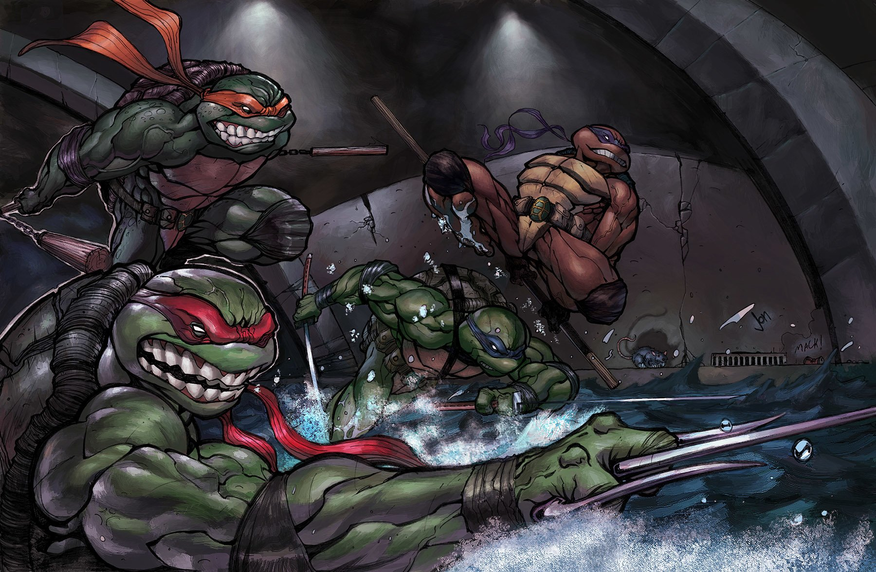 151 Tmnt Hd Wallpapers Background Images Wallpaper Abyss
