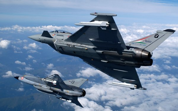 Military Eurofighter Typhoon Jet Fighters Airplane HD Wallpaper | Background Image