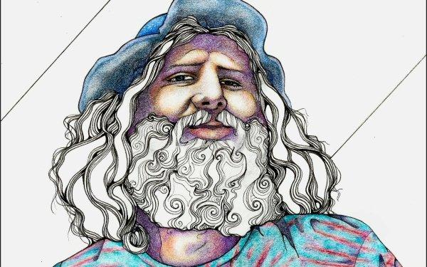 Artistic Drawing Man Hat Beard HD Wallpaper   Background Image