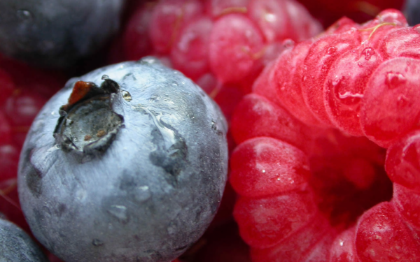 Food Berry Fruit Blueberry Raspberry HD Wallpaper | Background Image
